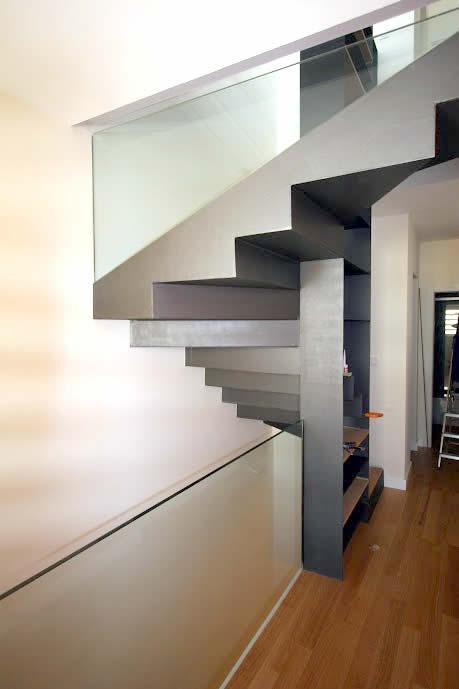 Escalera de aluminio y madera - Carindeco