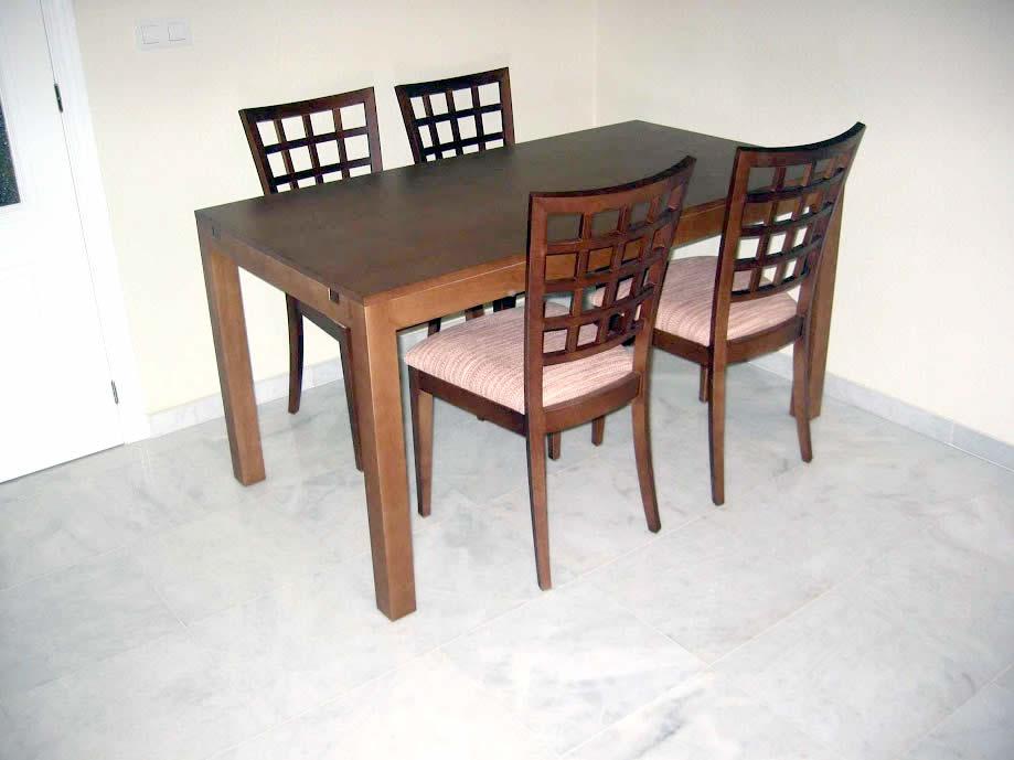 Conjunto silla y mesa comedor carindeco for Mesas comedor sevilla